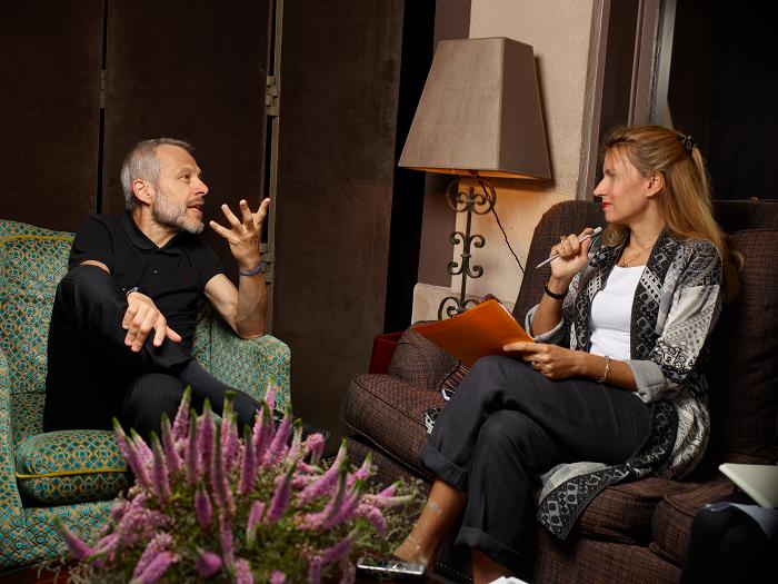 Pierre Mathiot et Anne-Sophie Beauvais (crédit : Manuel Braun) | Interview réalisée à l'hôtel  Le Saint