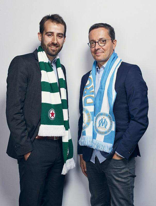 Grégoire Potton, Directeur général du Red Star FC et Jacques-Henri Eyraud, Président de l'OM. - Photo : Manuel Braun