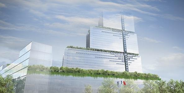 Nouveau palais de justice - Tribunal de grande instance. Crédits photo :  L'autre image. Labtop et Lansac - RPBW