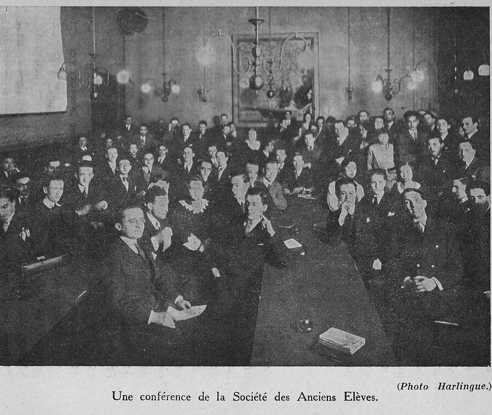 Une conférence de la Société des Anciens élèves