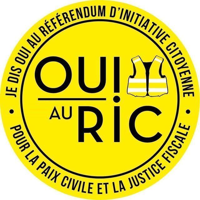 Brochure pour le RIC difusée sur les réseaux sociaux.