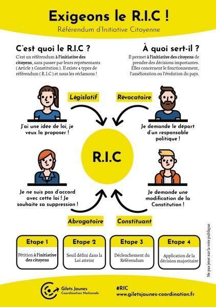 Une brochure pour le RIC diffusée sur les réseaux sociaux.