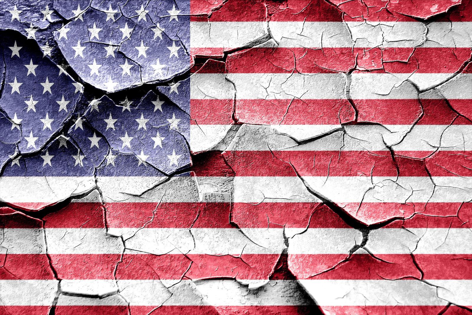 Broken US Flag