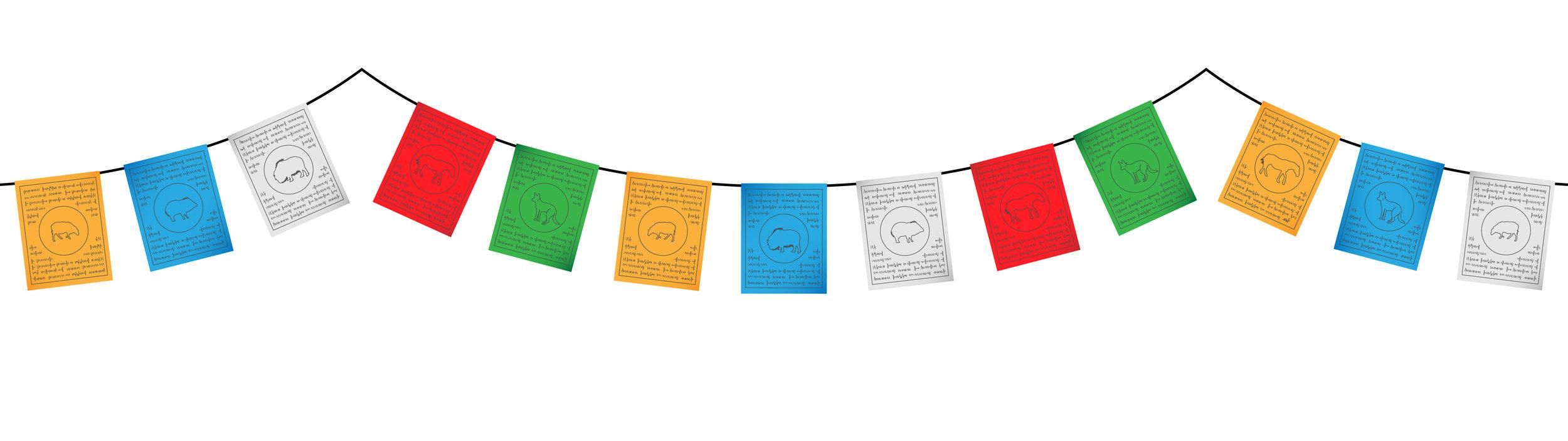 Drapeaux népalais