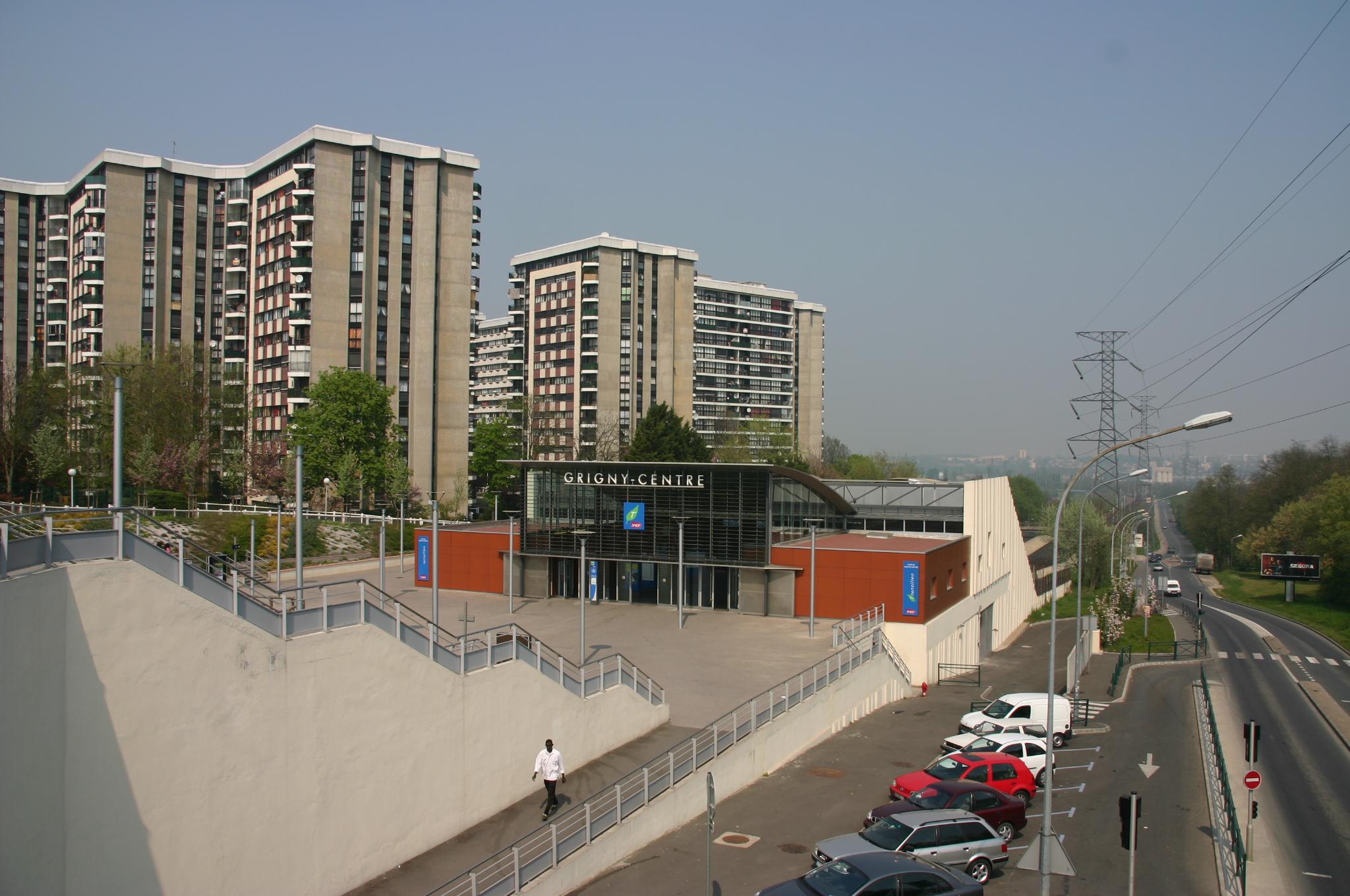 Gare de Grigny.