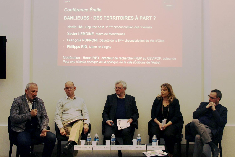 François Pupponi, Xavier Lemoine, Henri Rey, Nadia Hai et Philippe Rio.