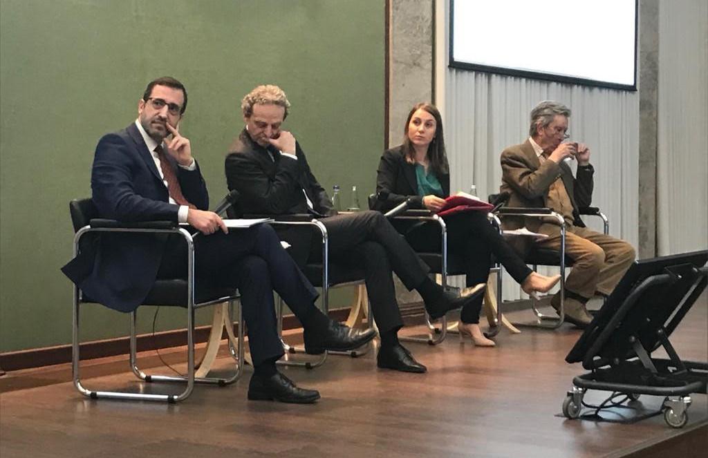 De gauche à droite : Antonio Villafranca, Marc Lazar, Camilla Pagani et Michele Salvati. (DR)