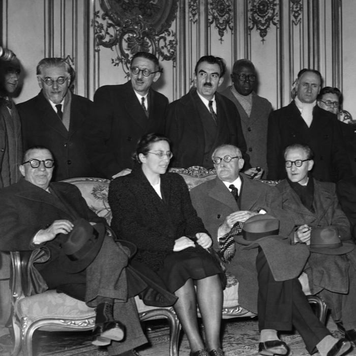 Andrée Viénot dans le troisième gouvernement de Léon Blum (1946)   Photo : Keystone-France / Gamma-Rapho via Getty Images ©