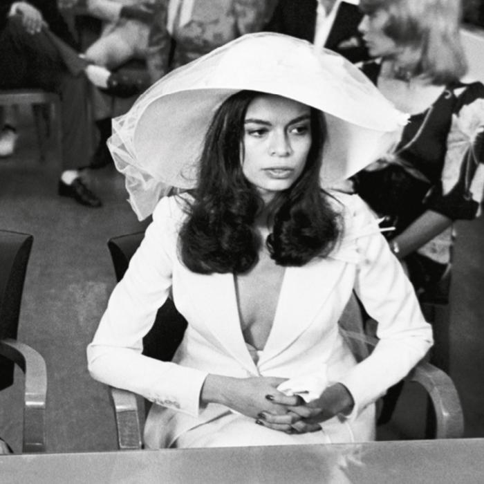 Bianca Perez-Mora Macías, 26 ans, le jour de son mariage avec Mick Jagger, le 12 mai 1971   Photo : Jean-Claude Deutsch - Paris Match ©