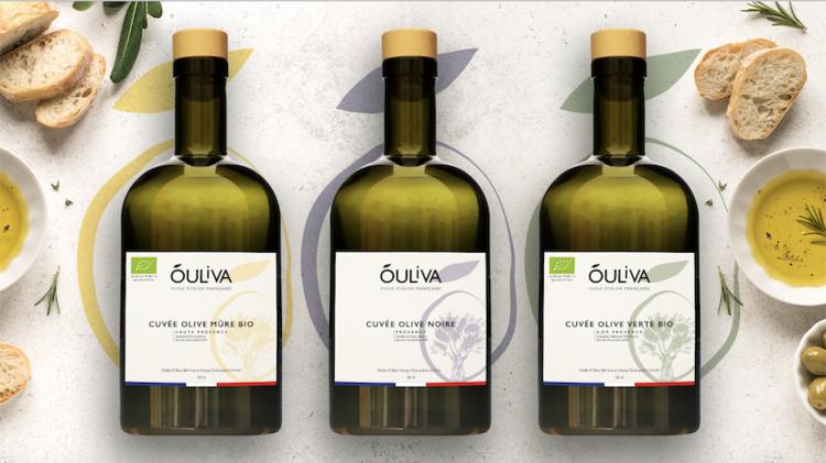 3 cuvées d'huiles Óuliva. (Crédits : Corentin Engel)