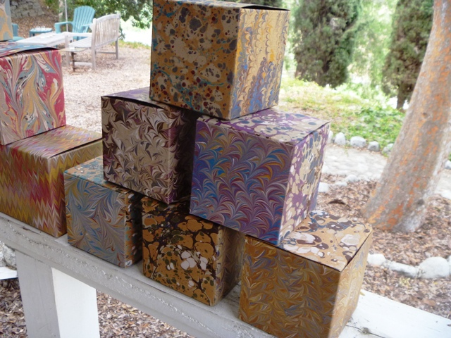 Marbled Craft Boxes