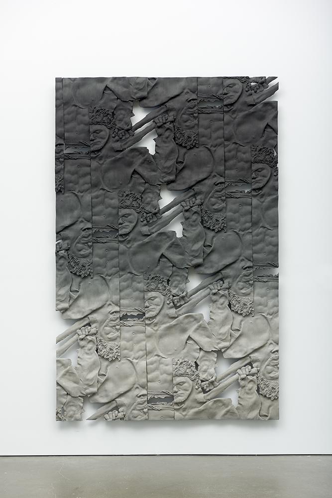 Stephen Marino, Fitness Trainer 2 , Oil paint, acrylic paint, urethane resin, epoxy, fiberglass, wood framing, 92 x 60 in., 2016