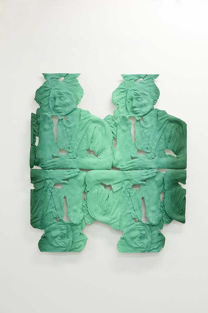Dr. Melissa Doft,Plastic Surgeon -Study ,Oil, acrylic, urethane resin, epoxy, fiberglass, aluminum framing, 45 x 39 x 3 in., 2016-2017