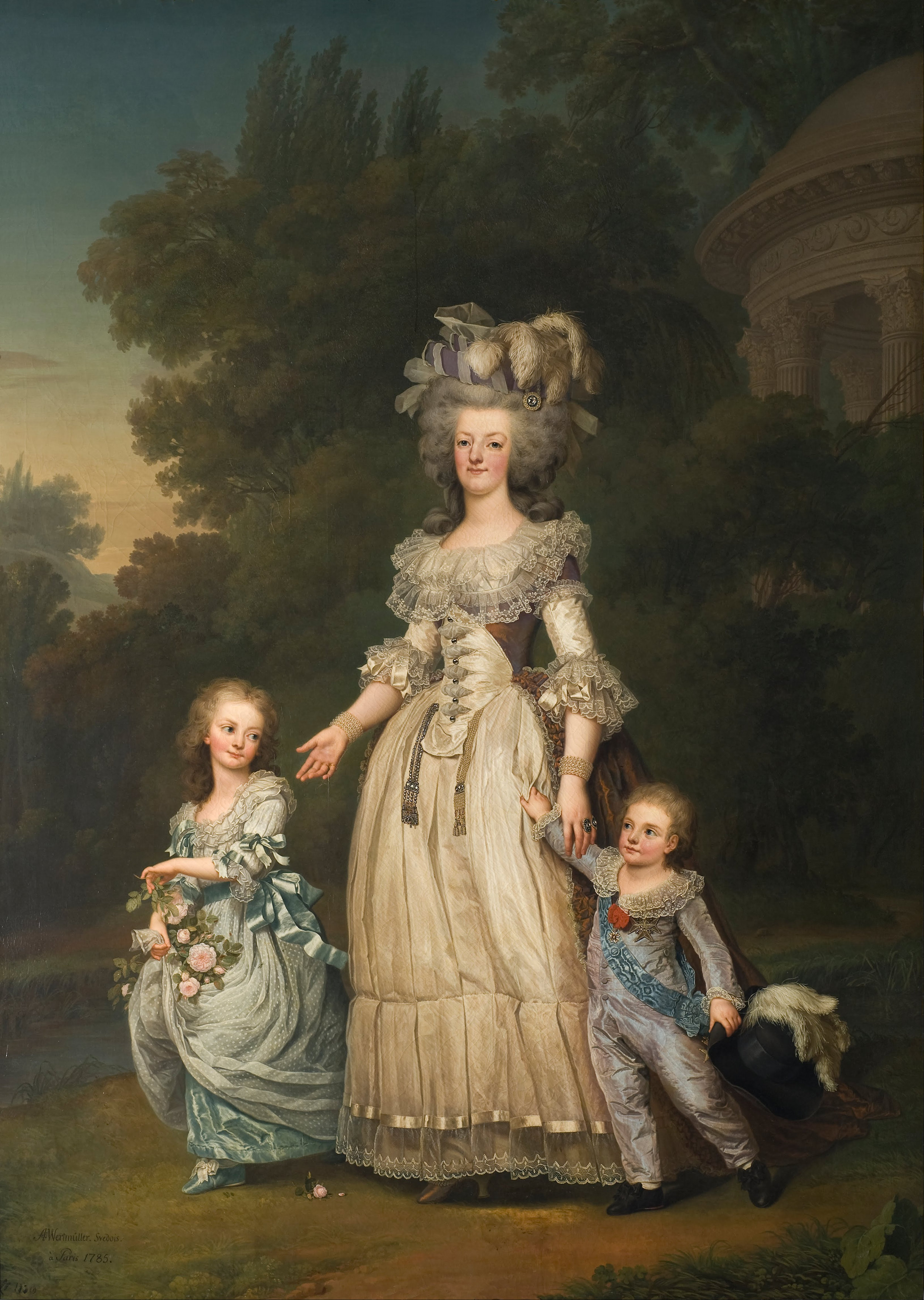 Adolf_Ulrik_Wertmüller_-_Queen_Marie_Antoinette_of_France_and_two_of_her_Children_Walking_in_The_Park_of_Trianon_-_Google_Art_Project.jpg