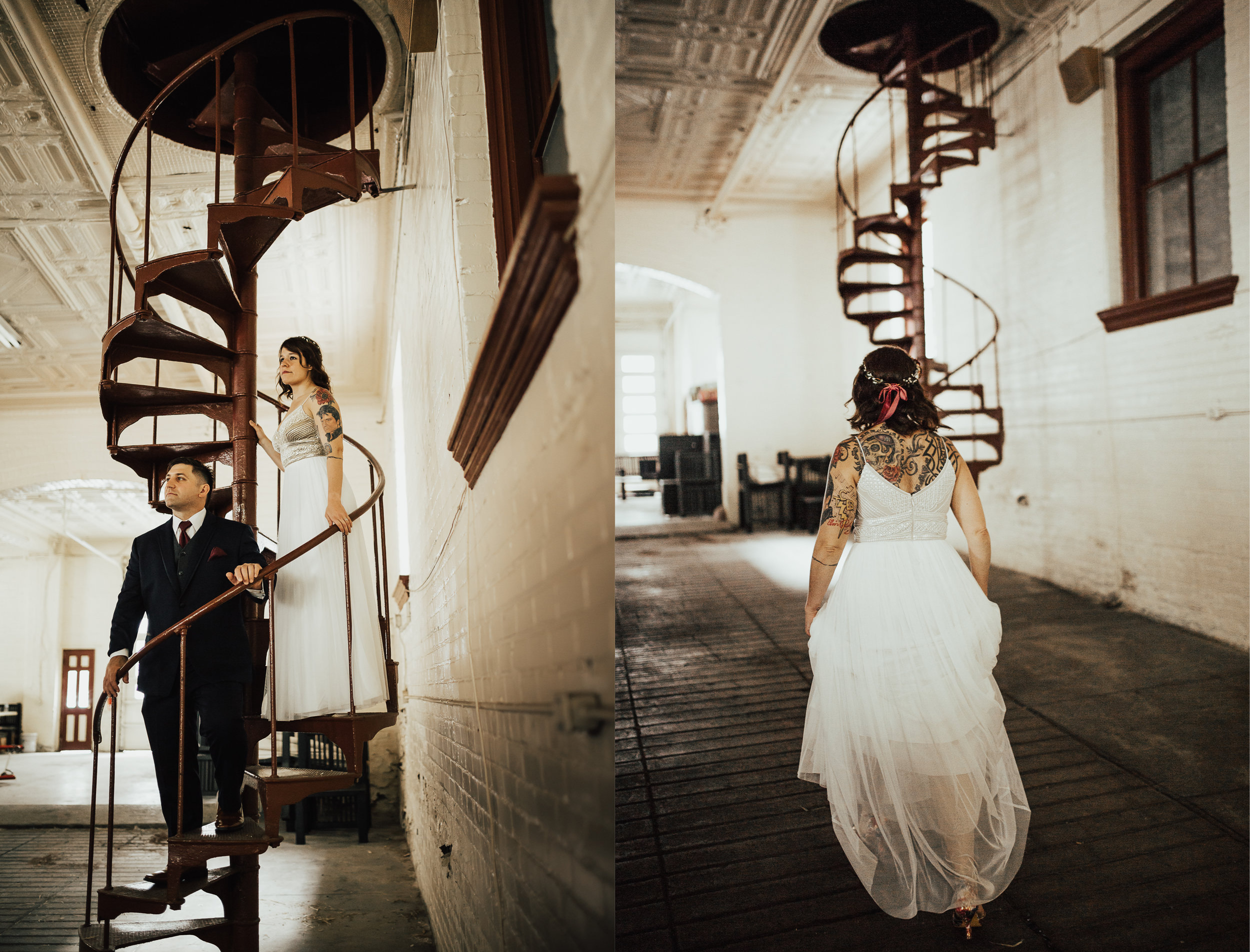 This spiral staircase is what dreams are made of. Not only is it gorgeous, but Annie told me it's true purpose. In the early 1900s the firefighters used horses to help them get the job done, and the spiral staircase helped keep the horses from going upstairs.