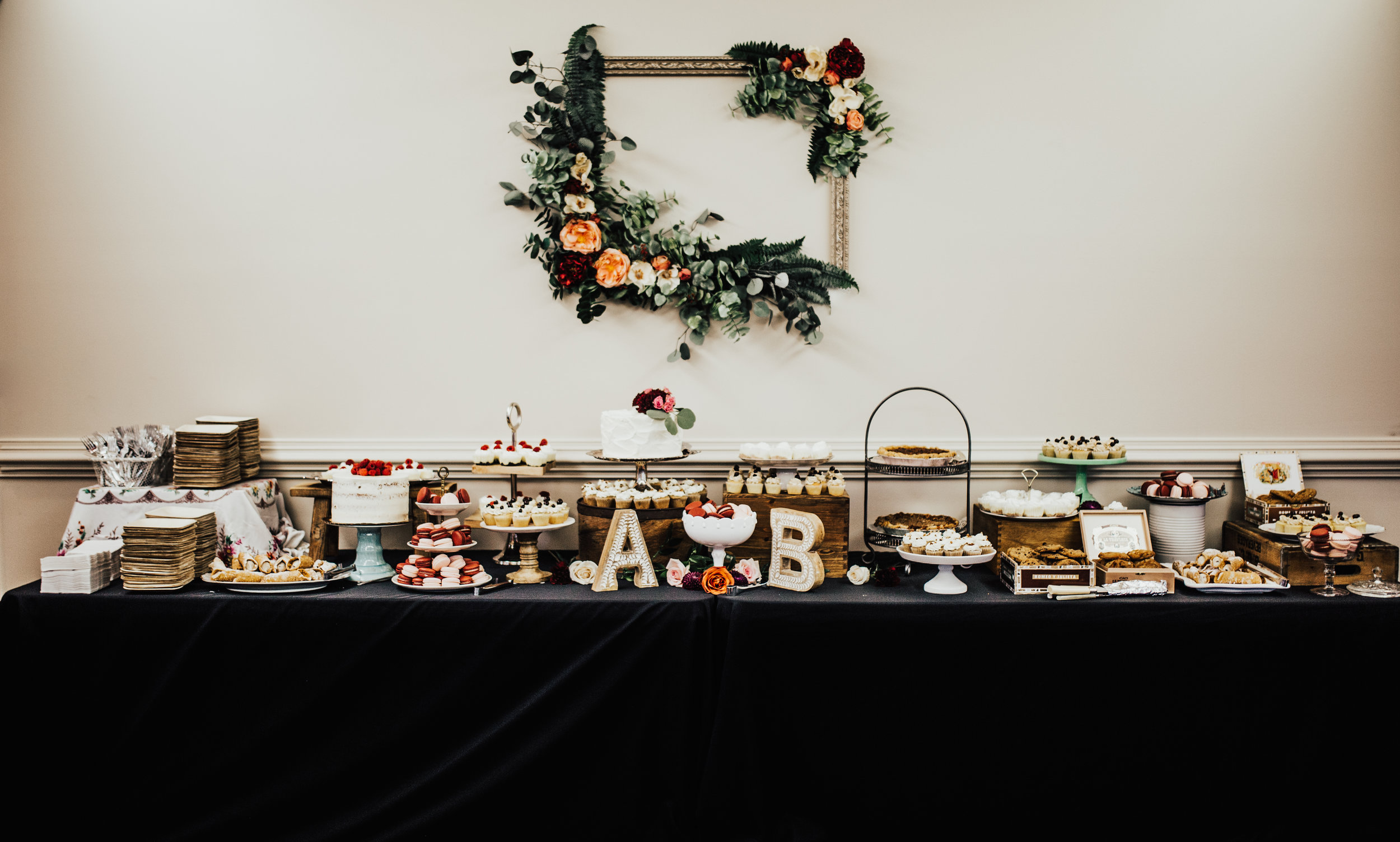Basically every single person that rounded the corner and saw this dessert table gasped.