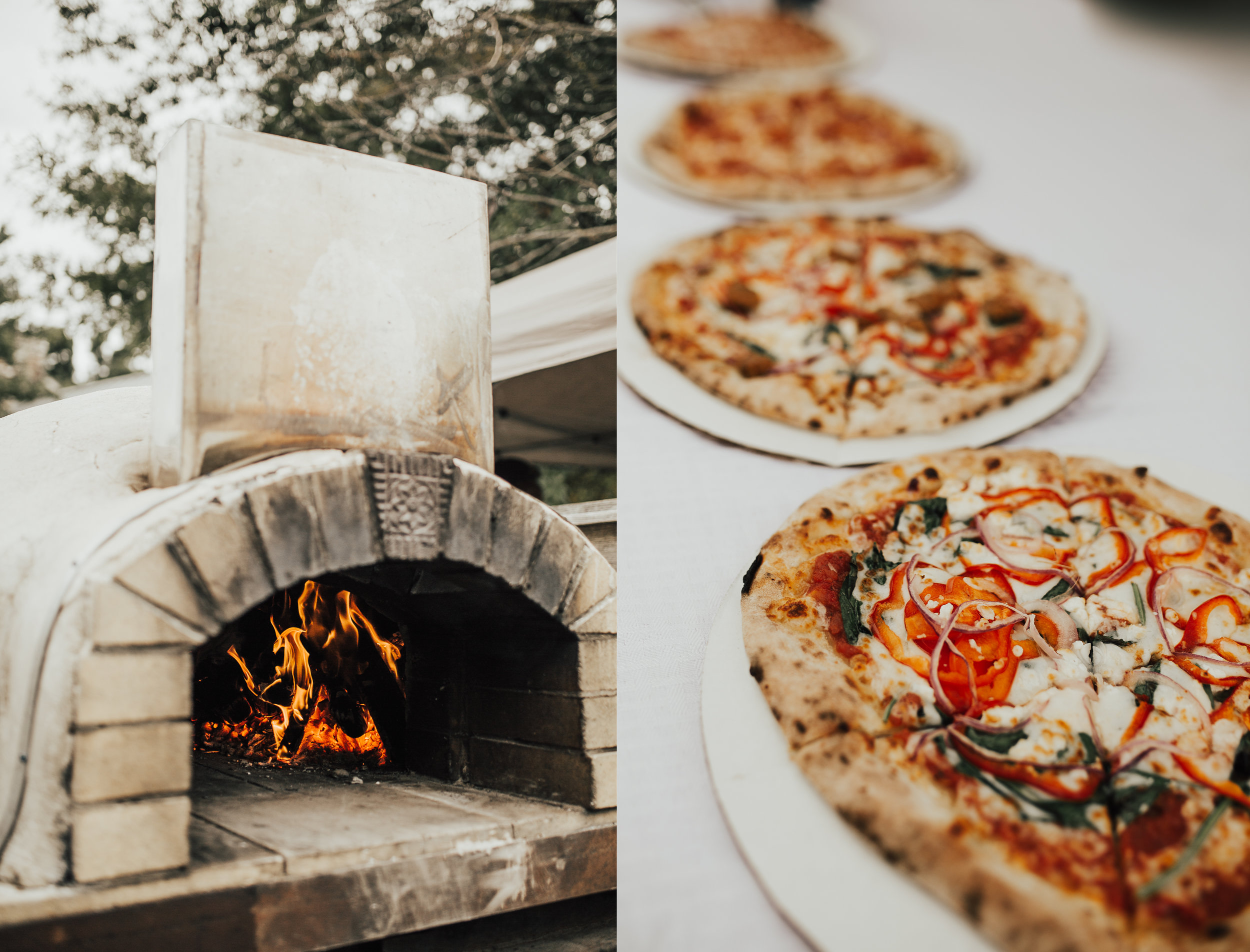 The brick oven cooked pizza was to DIE for.