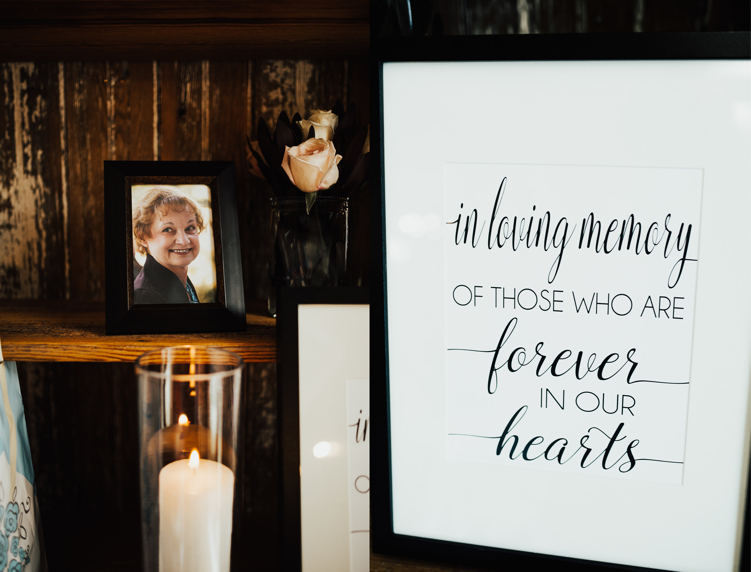 Annie's mom wasn't able to be there for her special day physically, but instead was there in spirit.