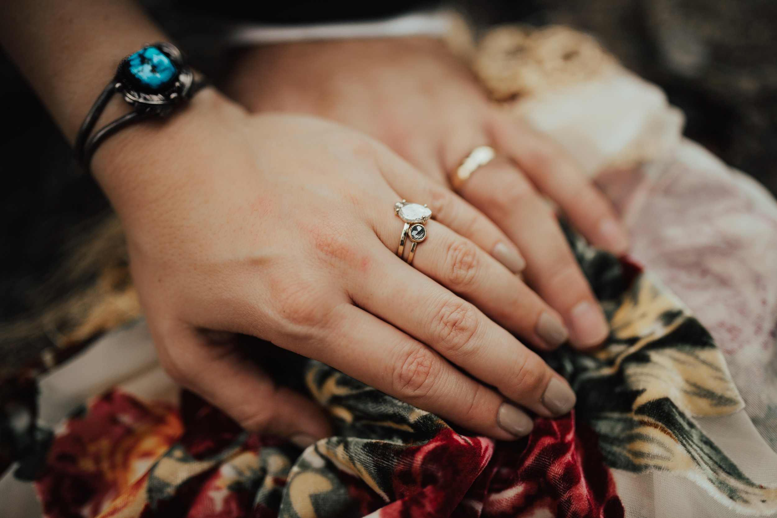 I am totally obsessed with Annie's rings. They are rough cut diamonds, so amazing and unique!