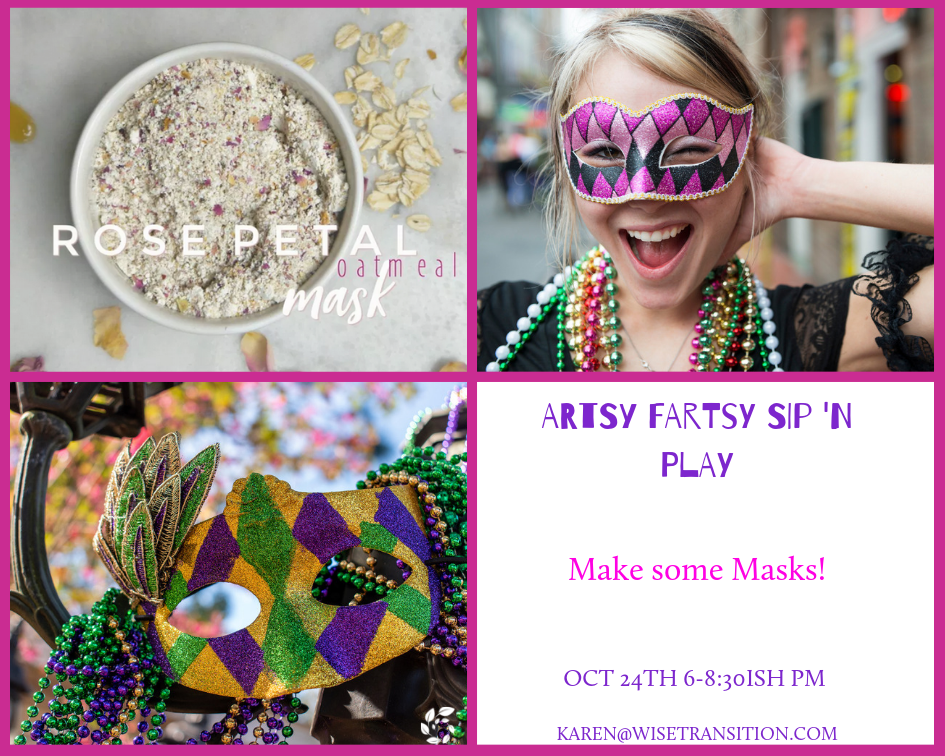 Ladies, join us for some creative exploration and play!  Each night will have a new project and focus. Wine, seltzers and light appetizers will be served.  This is for you if you want to play creatively or dive a little deeper into greater self-awareness through creative flow. The play starts at 6pm and ends at 8:30-ish, when you are done you're done!  $25 will cover supplies and wine. Pay at the door or at the shop button and RSVP ahead on Facebook. A sliding scale is always available.  Reply below or Facebook message with questions to Karen! Mark your calendars and join in the Artsy Fartsy fun!
