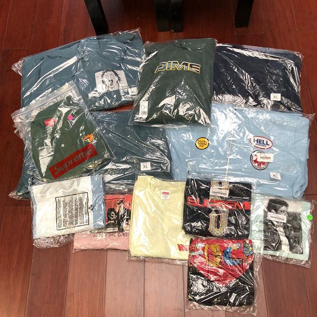 Supreme & Dime Goods in the shop, mostly L-XL only all brand new. Stop by and shop