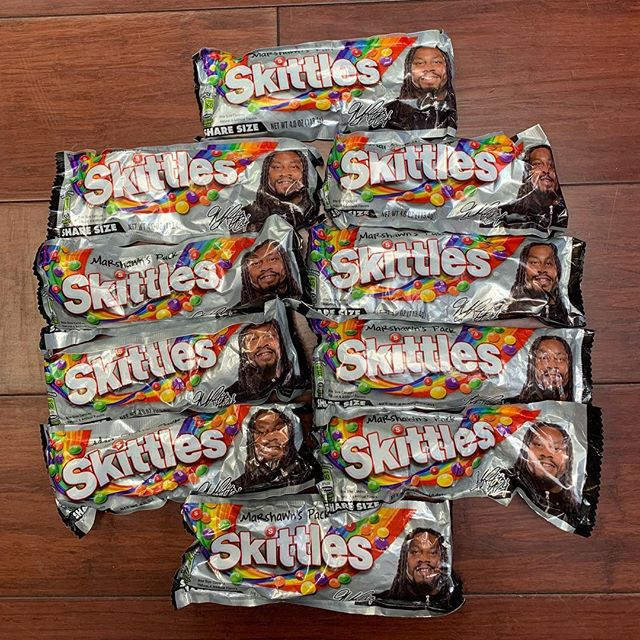 #Beastmode Skittles collectible pack available. $25 each, or 2 for $40. #marshawnlynch