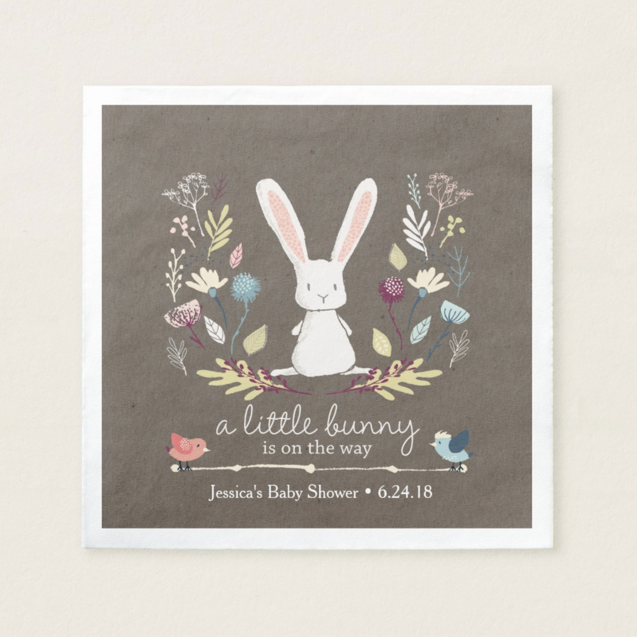 Baby Shower Bunny Plates