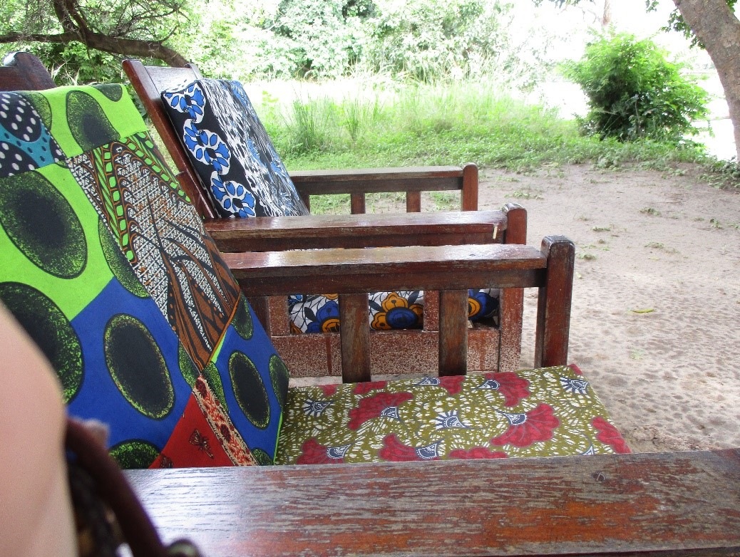 Chitenge chairs on the banks of South Luangwa