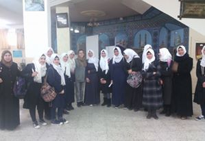 A community outreach project at a local girls school in Hebron