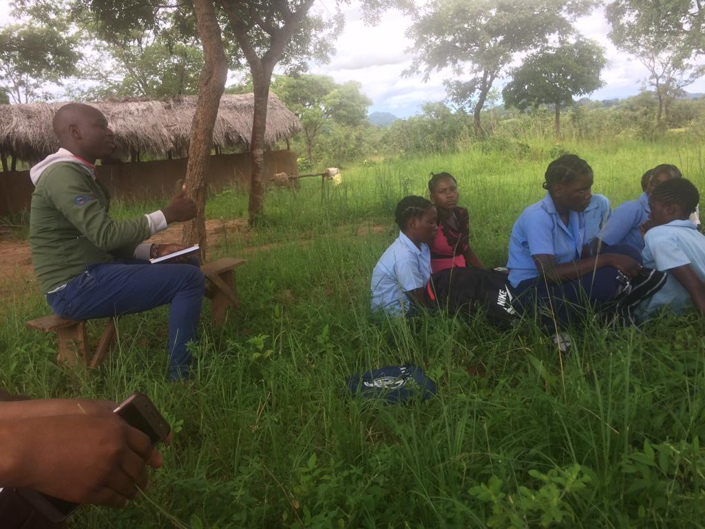Farm training at a Seeds to Grow school