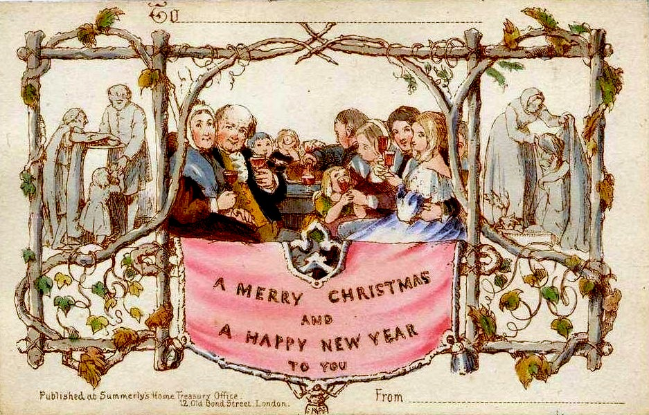 The first Christmas card designed by Sir Henry Cole