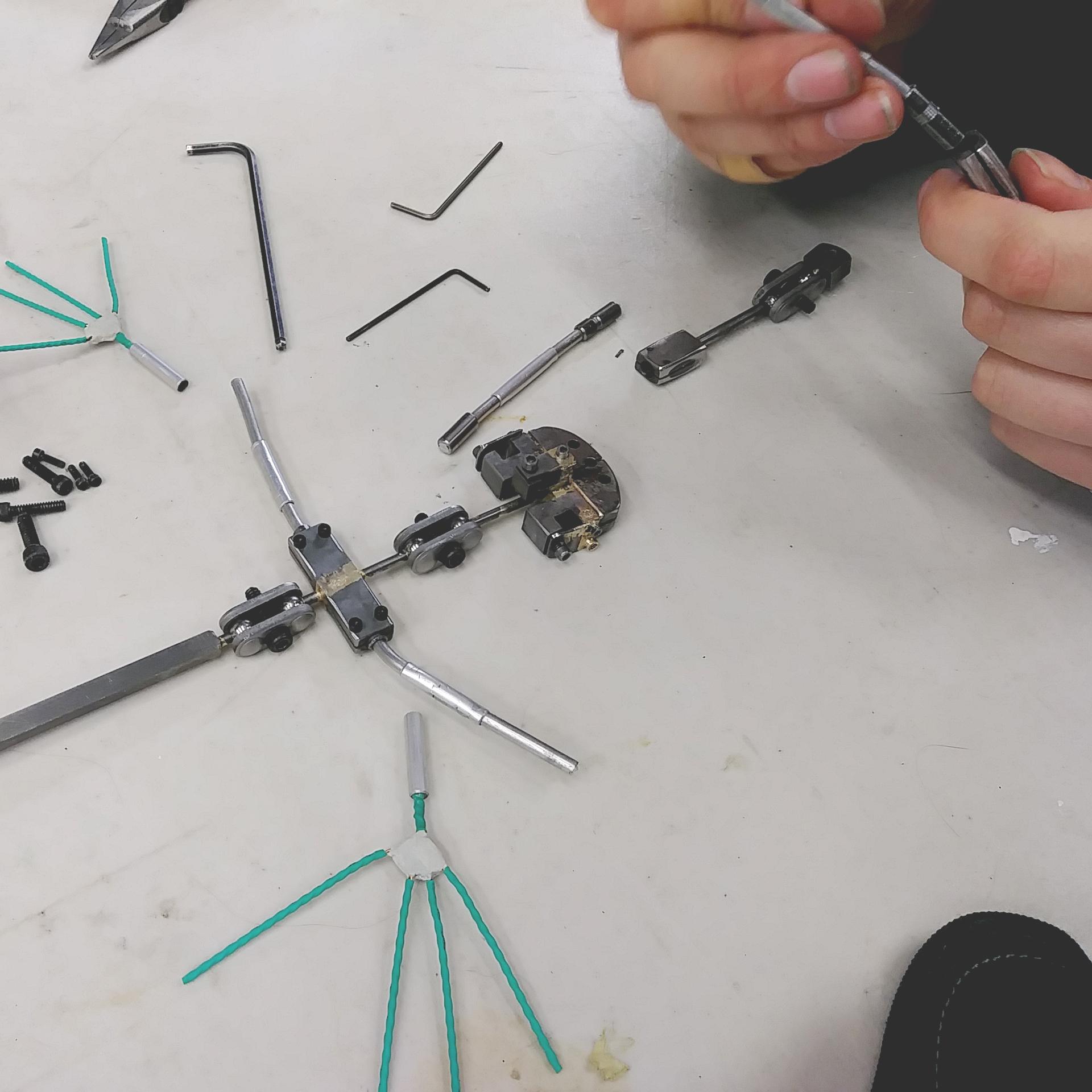 Puppet armatures  Acier / aluminium  Avec Stop-motion Montreal