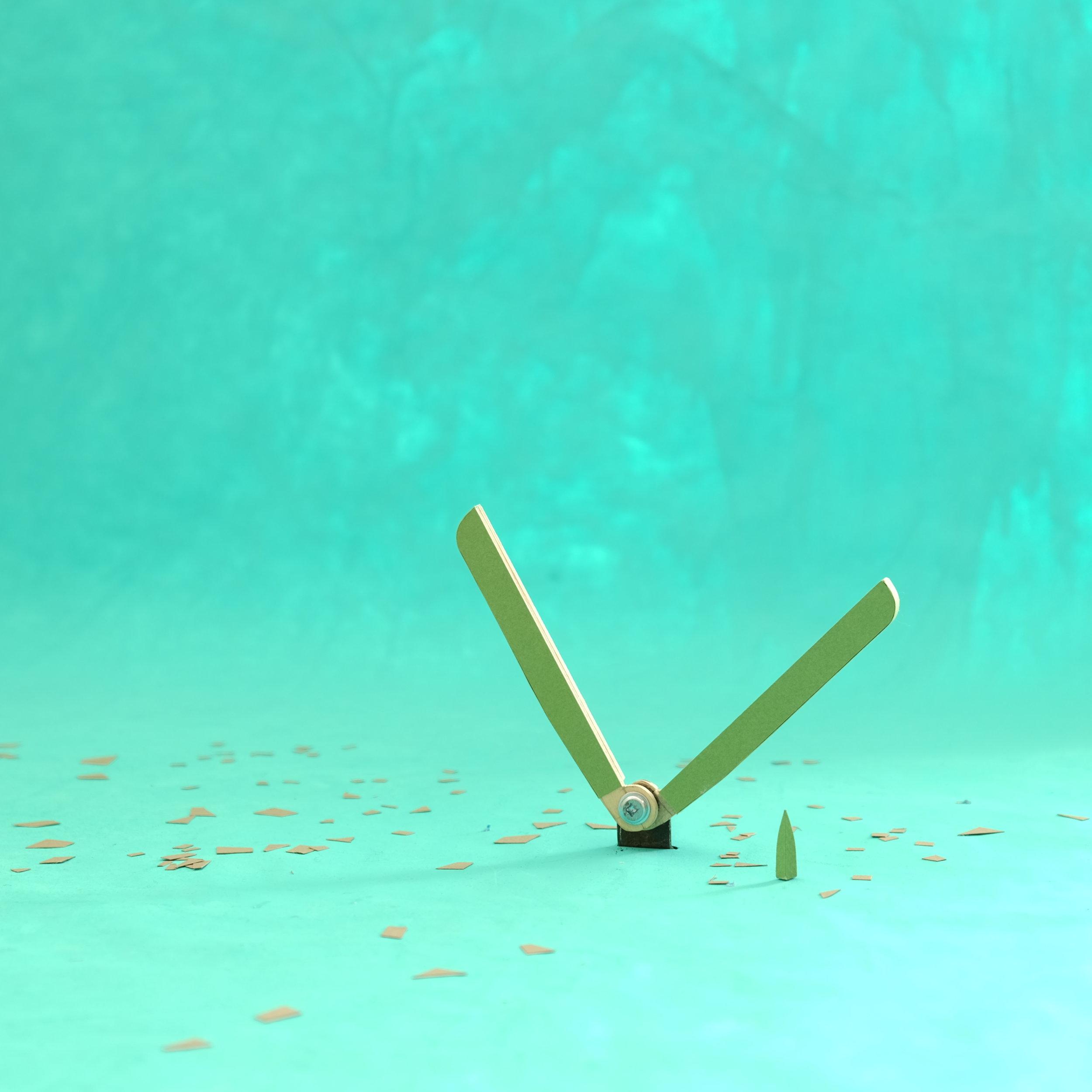 """Articulation pour décor """"pop up""""  Papier, bois, acier"""