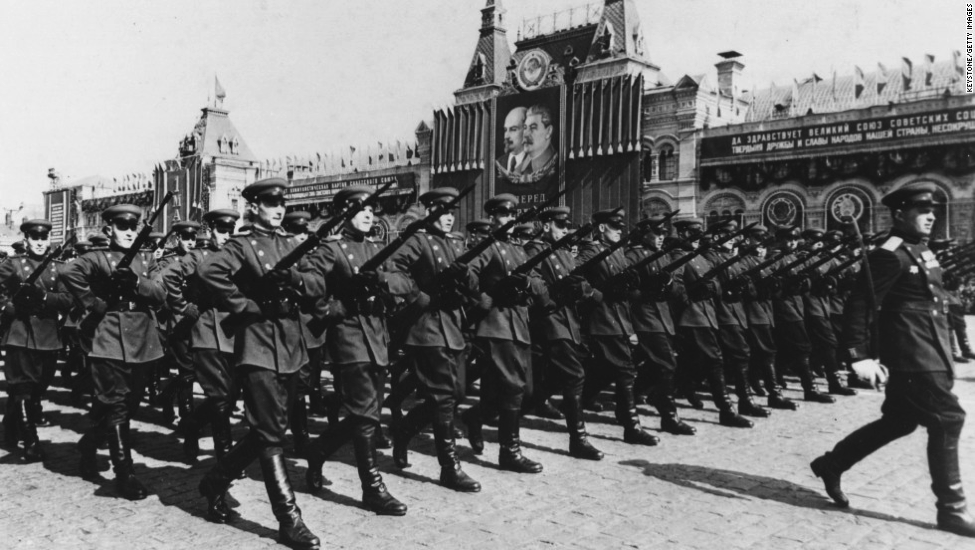 The Soviet Army marches on May Day 1954 |  CNN
