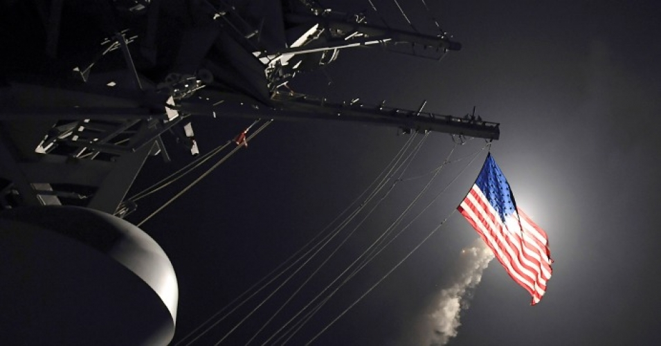 USS Porter launches a tomahawk land attack missile in the Mediterranean Sea || US Navy