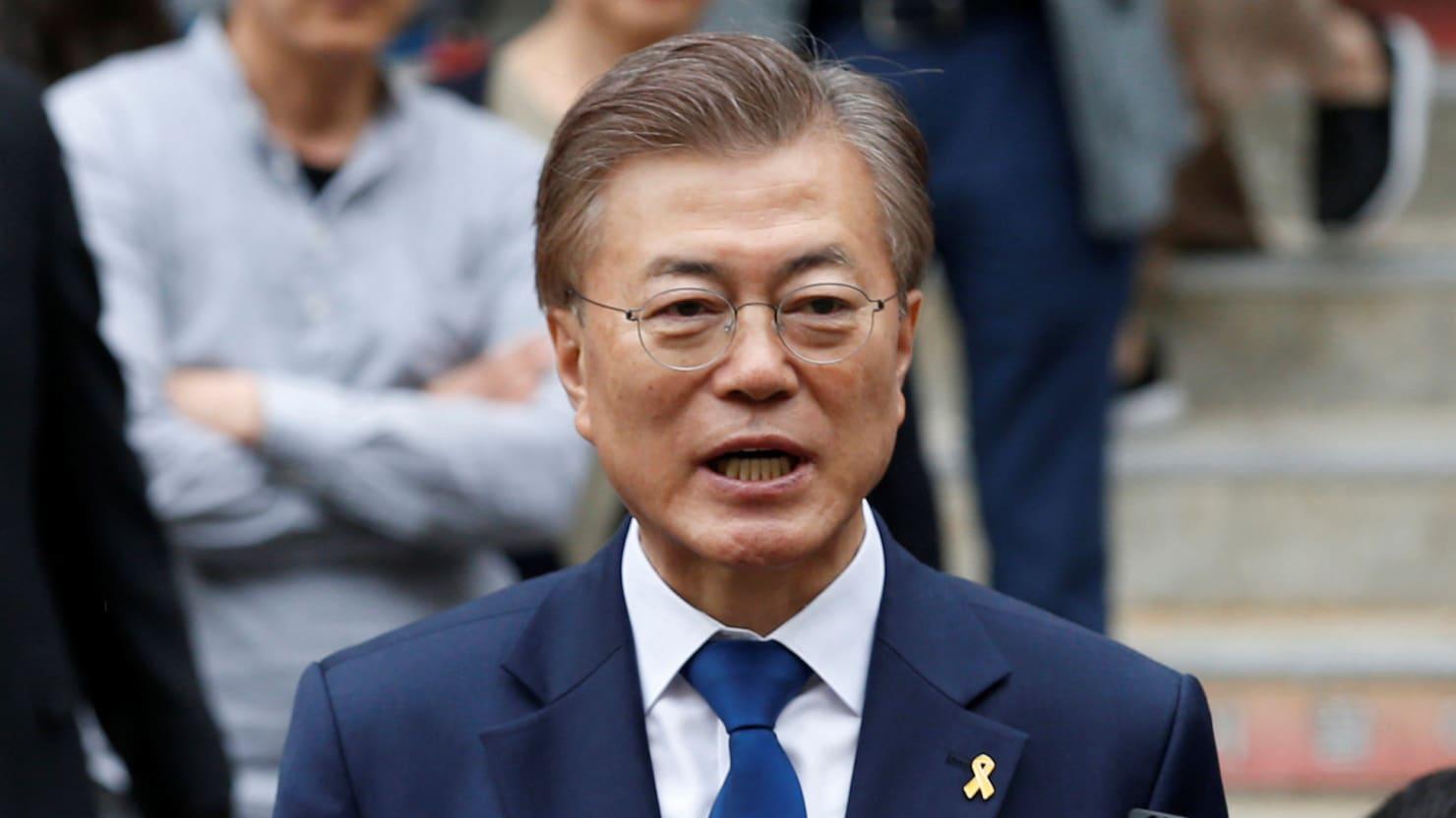 South Korean President Moon Jae-in    Kim Kyung Hoon/ The Daily Beast