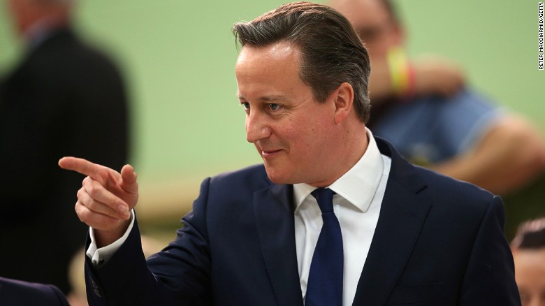 David Cameron, former UK Prime Minister and inheritor of an offshore account. || CNN.