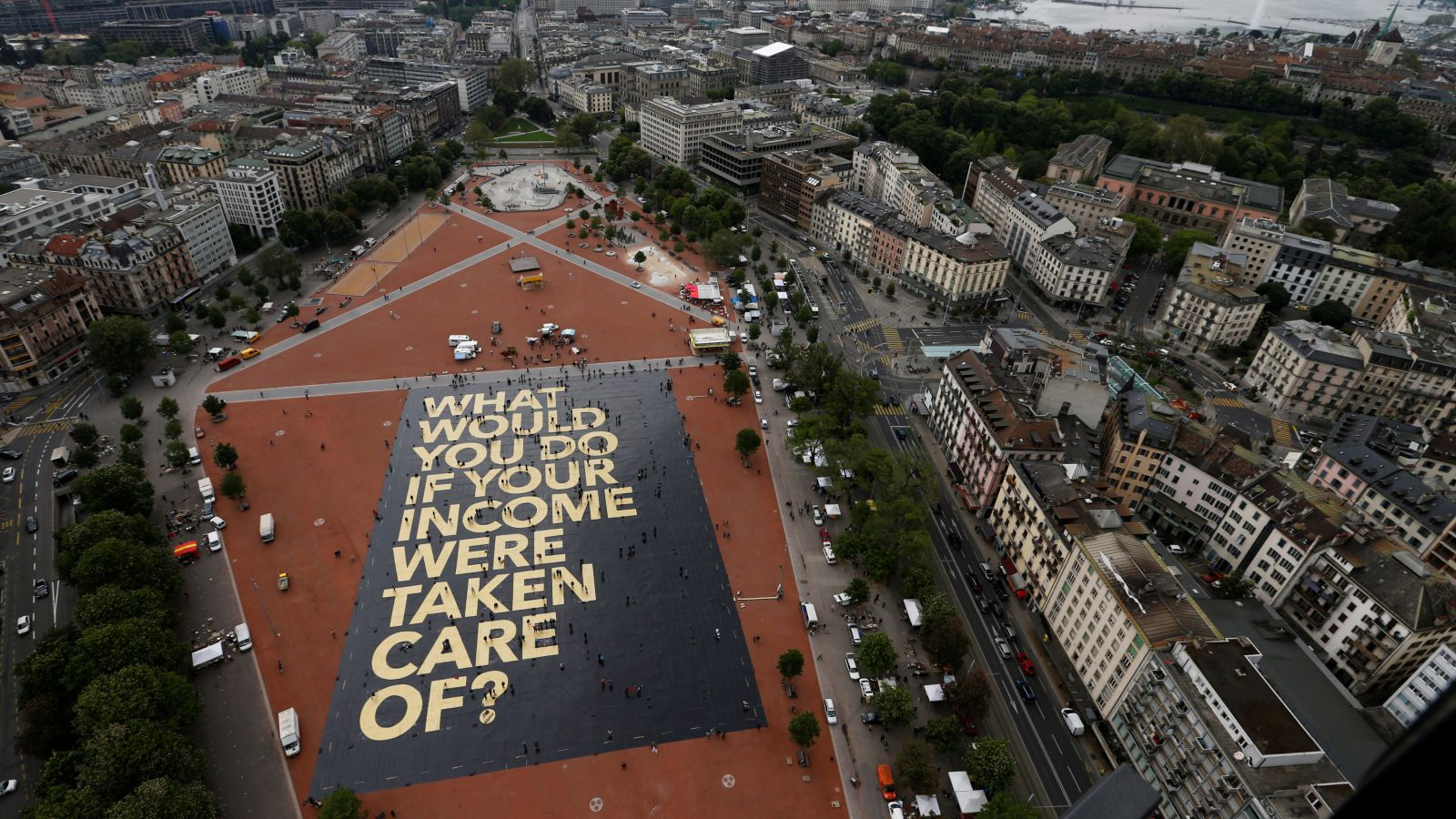 The question of universal basic income looms large. ||Denis Balibouse, Reuters.