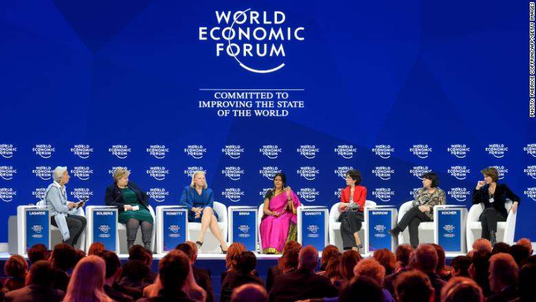 All-female panel at Davos 2018. || CNN.