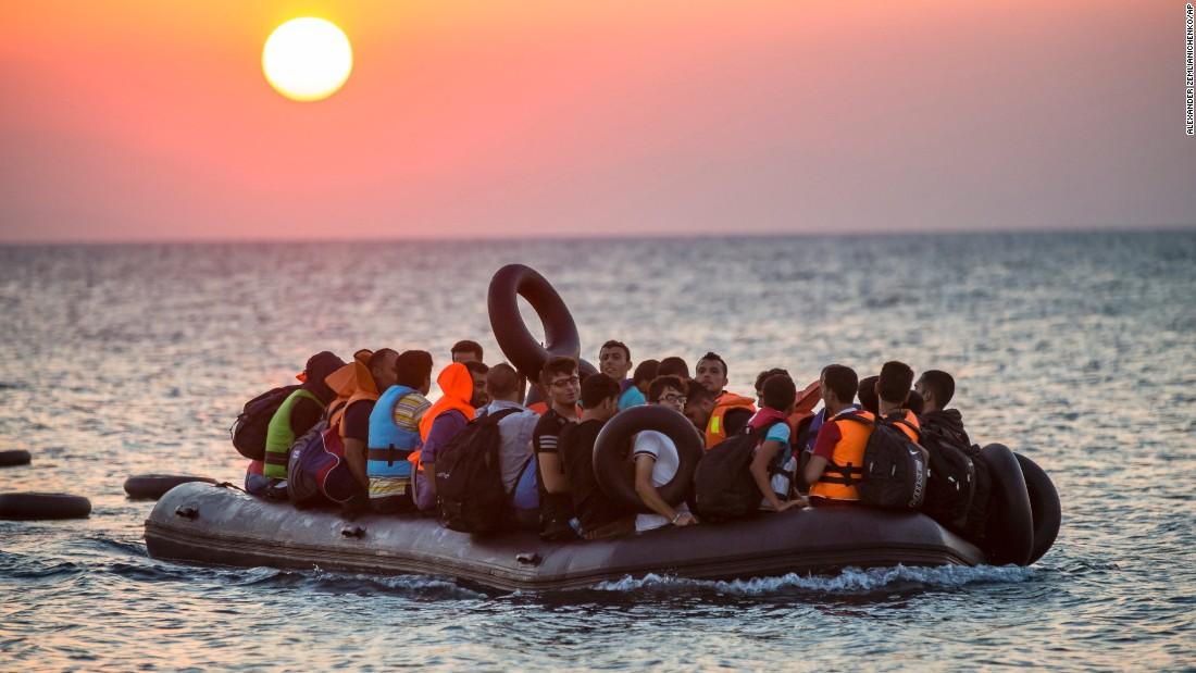 Migrants to Kos, Greece. || Alexander Zemlianichenko, AP.