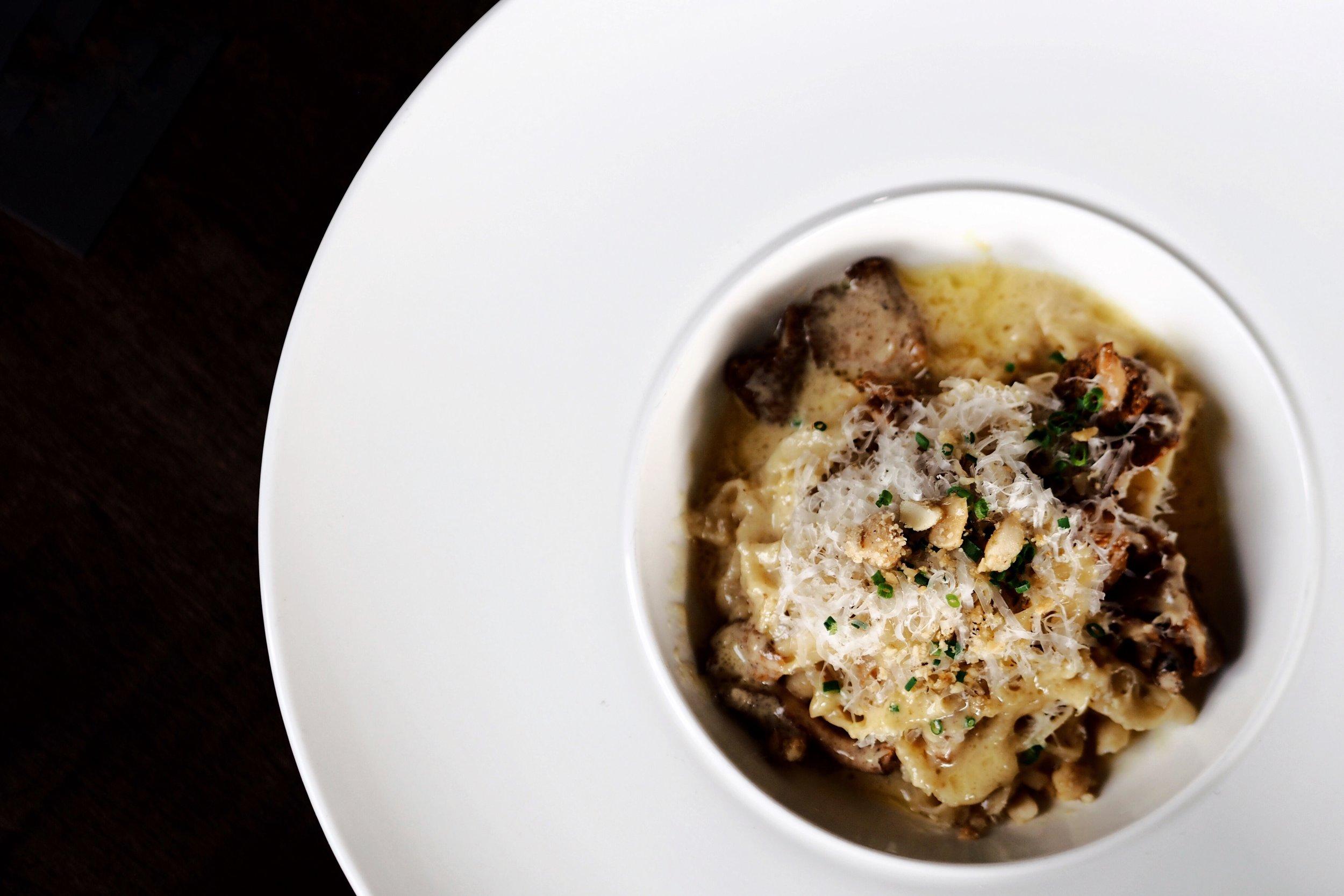 Pasta : Chantrelle, Macadamia ($22.00 + tax)