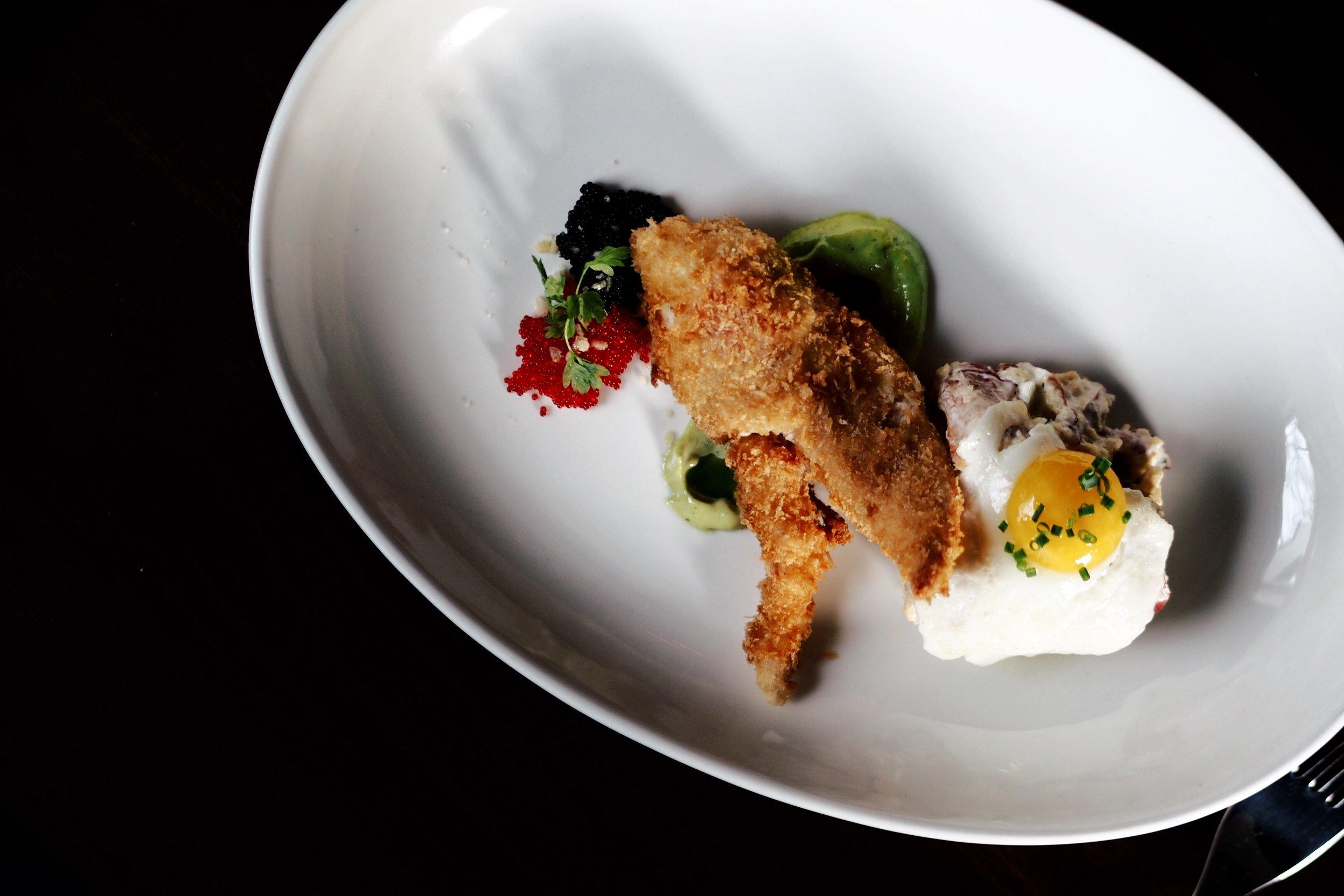 Lobster : Egg, Caviar ($36.00 + tax)