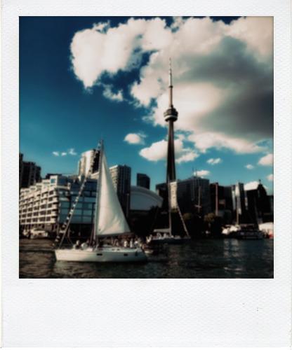 View of Toronto skyline.