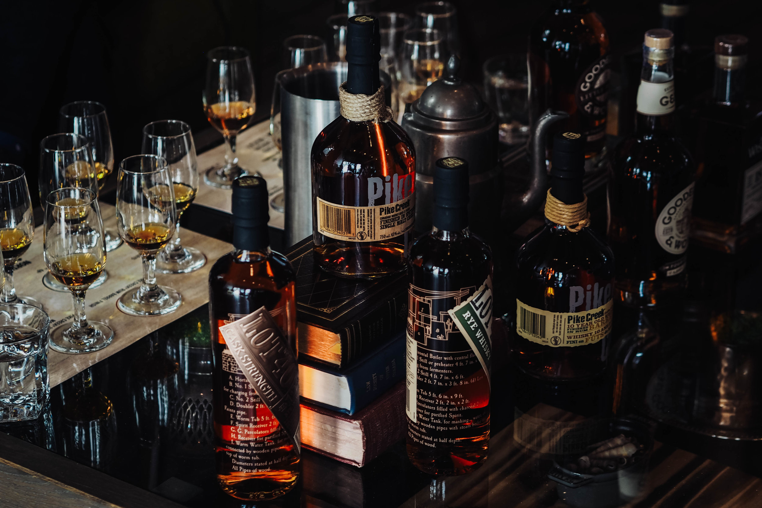 Northern Border Collection Rare Range Whisky Collection.