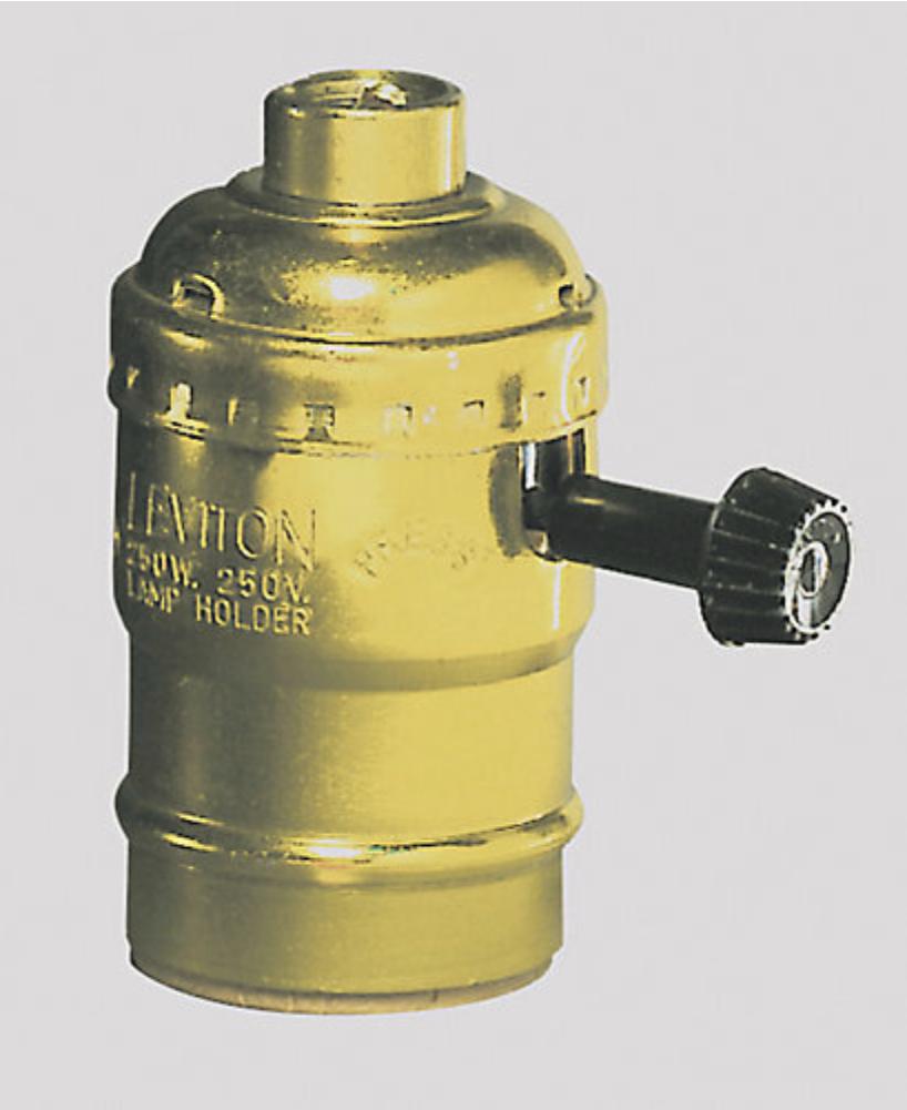 Gold Bulb Socket