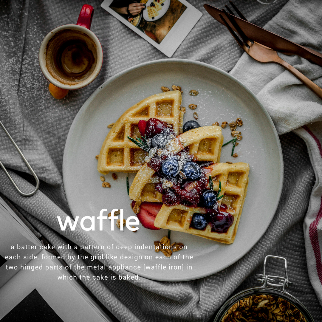 in the kitchen: classic belgian style waffles topped two ways: mixed berries + whisky infused maple syrup and with rosemary infused strawberry jam + granola. - the best part about waffles is that they give you a clean slate to work it when it comes to toppings. you can get as creative as you want with them - sweet or savoury. this past weekend's focus was sweet, with a twist.