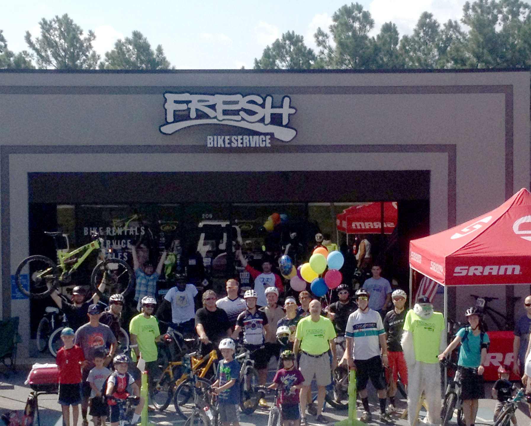 Fresh Bikes operated as a mobile business until 2011 when we were able to open our brick and mortar location in Roswell next to Big Creek Park Mountain Bike Trails. - We love our location to the park and our ability to host rides and demo/rent bikes. We love Big Creek Park and do what we can to support the park.