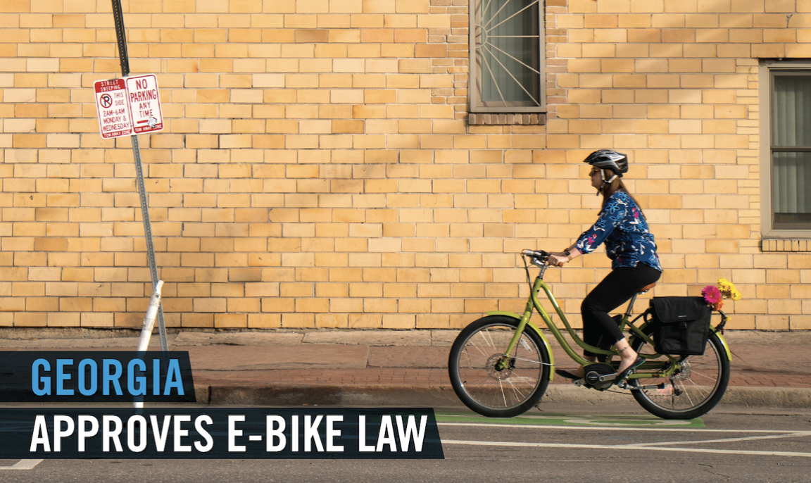 Georgia Governor Brian Kemp signed a new e-bike law. House Bill 454 officially recognizes electric bikes as bicycles and gives e-bike riders the same access to roads and pathways as other bicycle riders in Georgia. To read the full bill, visit the Georgia e-bike page. -