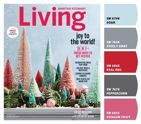 December 2016  photos Martha Stewart Living and Sherwin-Williams ColorSnap