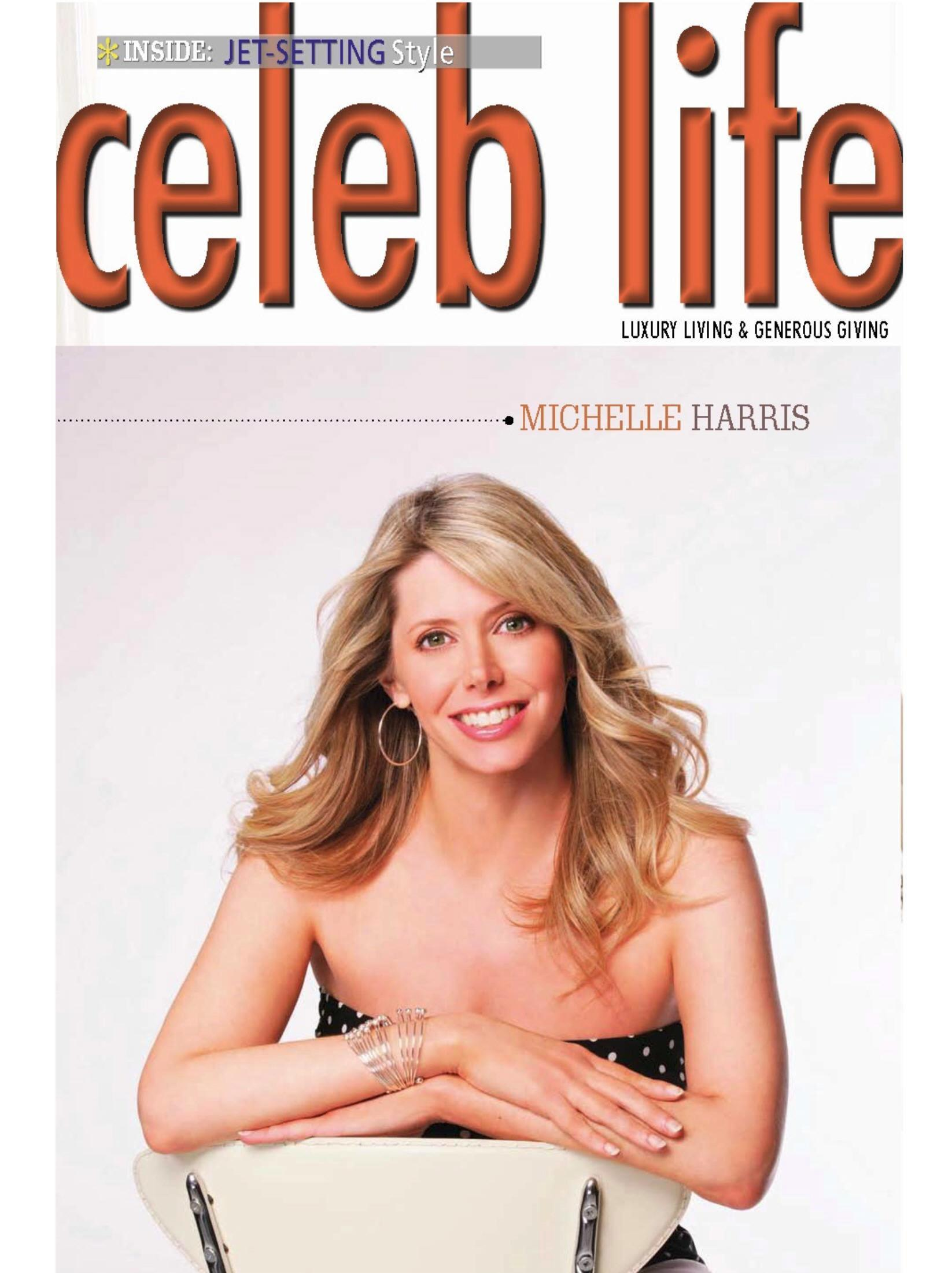 Michelle Harris of Alive & Well TV Show on cover of Celeb Life Magazine